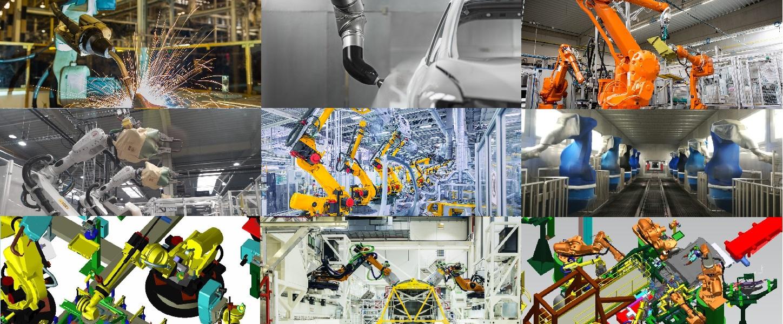 Multiples images avec des robots industriels AXE-S-ONE Robotique Industrielle